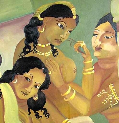 Based on Ajanta Murals.