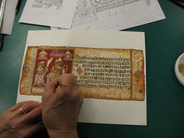 Jain Manuscript Painting Workshop at V&A London.