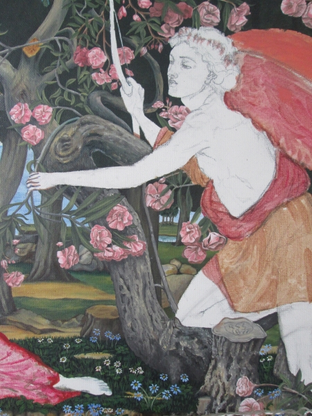 Detail of Love and the Maiden tribute.