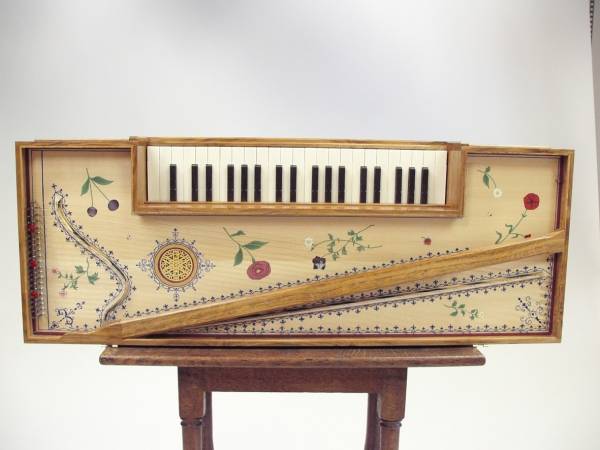 Full View of Hand Decorated Soundboard
